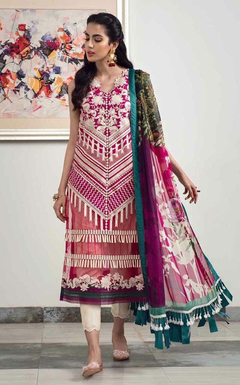 Asifa and Nabeel 2-H Fascination Luxury Lawn Vol 1
