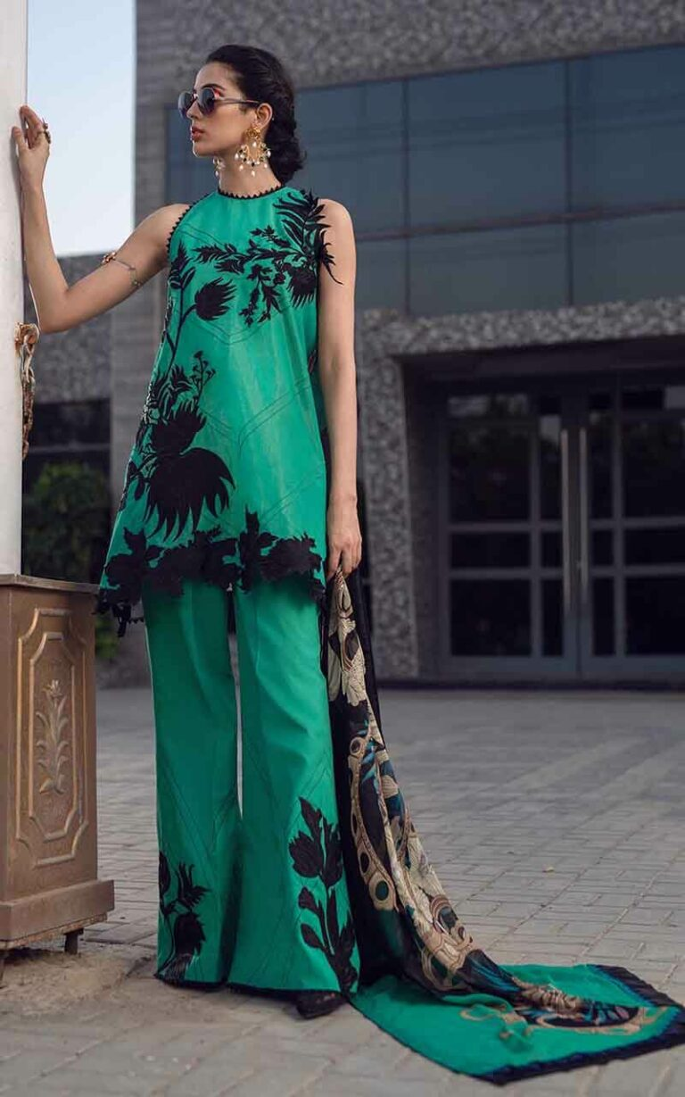 Asifa and Nabeel 77-D Dark Force Luxury Lawn Vol 1
