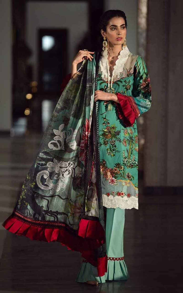 Asifa and Nabeel 15-L Ladies Day Luxury Lawn Vol 1