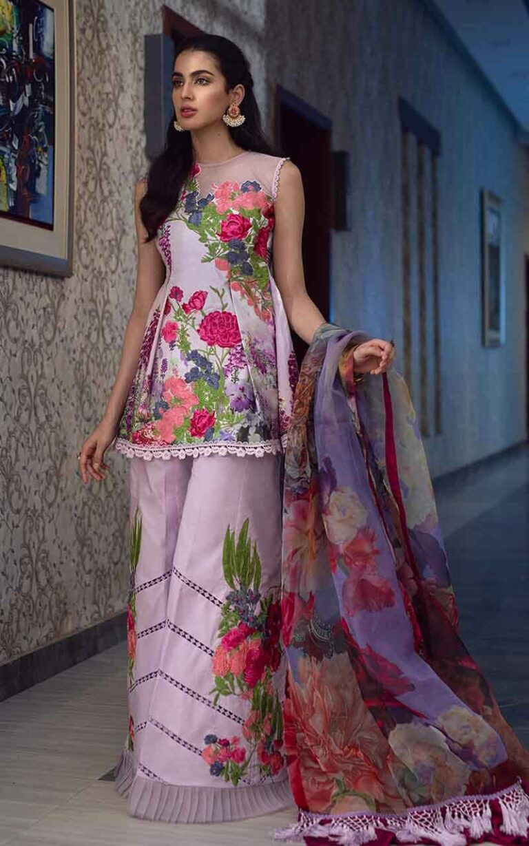 Asifa and Nabeel 1-L Lavender Love Luxury Lawn Vol 1