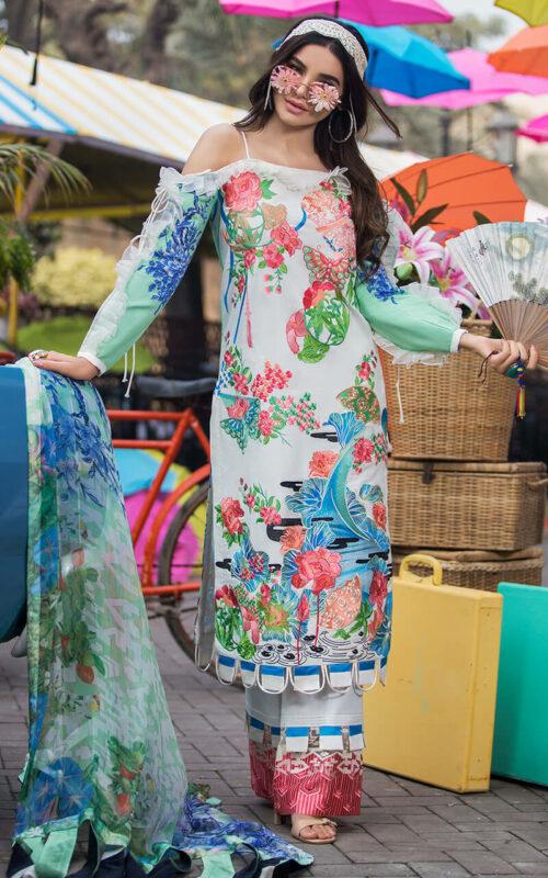 Asifa and Nabeel Nora LA-2 Luxury Lawn Vol 2